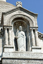 Statue of christ the basilica sacré cour in paris Royalty Free Stock Photos