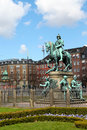 Statue of Christian V in Copenhagen Royalty Free Stock Photos