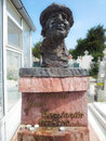 Statue of comedian jean constantin in cemetery actor at his grave the central from constanta romania europe was a well Royalty Free Stock Images