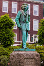 Statue of composer edvard grieg bergen norway monument Stock Photo