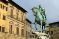 Statue of Cosimo I de' Medici by Giambologna Royalty Free Stock Photo