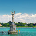 Statue of a courtesan of the Empire in the bay of Lake Constance Royalty Free Stock Photo
