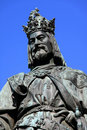 Statue of the Czech King Charles IV. in Prague Royalty Free Stock Image