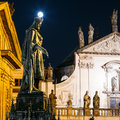 Statue Of Czech King Charles IV In Prague, Czech Republic Royalty Free Stock Photo