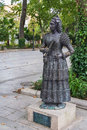 Statue of dama goyesca ronda spain bronze in alameda park Stock Photography