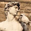 Statue of david close up the famous florence italy Stock Photography