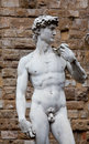 The statue of david by michelangelo on the piazza della signoria in florence italy Royalty Free Stock Photography