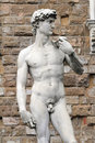 Statue of david replica florence italy Stock Photos