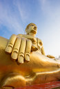 Statue de bouddha d or à pattaya thaïlande Photo stock