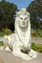 Statue de sphinx par arthur putnam dans l avant de de young museum à golden gate park Photos stock