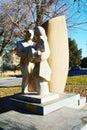 Statue dedicated to the Italian immigrants, Treviso, Italy Royalty Free Stock Photo