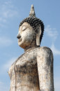 Statue of a deity in the historical park sukhothai thailand Royalty Free Stock Photo