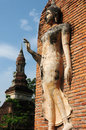 Statue of a deity in the historical park sukhothai thailand Royalty Free Stock Photos