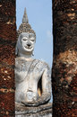 Statue of a deity in the historical park sukhothai thailand Stock Photography
