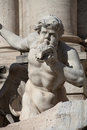 Statue detail fountain trevi rome italy Royalty Free Stock Image