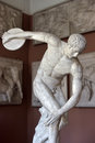 Statue of discus thrower sculpture the museum casts st petersburg russia Royalty Free Stock Image