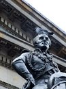 Statue of the duke of wellington glasgow gallery of modern art scotland Royalty Free Stock Photography