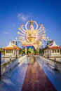 Statue of eighteen arms buddha in samui thailand Royalty Free Stock Image