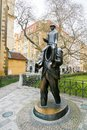 Statue of Franz Kafka in Prague Royalty Free Stock Photo