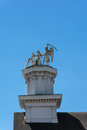 The statue of father time and the maiden mendocino california usa may on roof Stock Photo