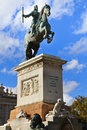 Statue of Felipe IV. - Madrid Royalty Free Stock Photography
