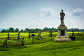 Statue and fence at Antietam National Battlefield, Maryland.