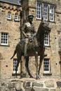 Statue of field marshal douglas haig in edinburgh castle in edin the esplanade scotland uk Stock Images