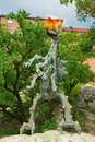 Statue of fire breathing dragon Royalty Free Stock Photo