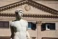 Statue from the fontana della vergogna palermo detail of a of by francesco camilliani pretoria square sicily landscape cut Stock Images