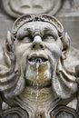 Statue fountain in Rome, Italy. Royalty Free Stock Photo