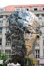 Statue of Franz Kafka by David Cerny. Prague. Czech Republic Royalty Free Stock Photo
