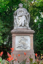 Statue franz schubert vienna austria of in the city park of Royalty Free Stock Photos