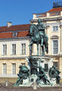 Statue friedrich wilhelm i berlin elector of brandenburg before charlottenburg palace Royalty Free Stock Photos