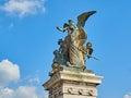 Statue front Altare della Patria Rome Italy Royalty Free Stock Photo