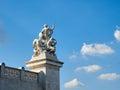 Statue front Altare della Patria in Rome Italy Royalty Free Stock Photo