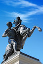 Statue in front of Austrian parliament, Vienna Royalty Free Stock Photography
