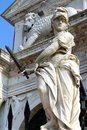 Statue in front of the gates of the arsenal venice Stock Image