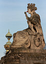 Statue in front of Tuileries Garden with Red Nose Royalty Free Stock Photo
