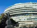 STATUE IN FRONT OF WATERGATE BUILDING Royalty Free Stock Photo