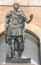 Statue of gaius julius caesar in rimini italy Stock Photography
