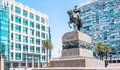 Statue of General Artigas in Plaza Independencia, Montevideo, Ur Royalty Free Stock Photo