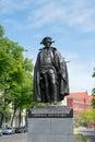 Statue of general fon stauben in magdeburg germany Stock Photo