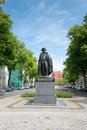 Statue of general fon stauben in magdeburg germany Stock Photography