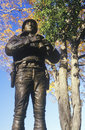Statue of George Patton, US Military Academy, West Point, NY in Autumn Royalty Free Stock Photo
