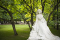 Statue of george sand paris in luxembourg garden Stock Photography
