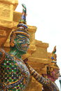 Statue Giant at Wat Phra Kaew in Bangkok Royalty Free Stock Photo