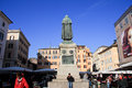 Statue of Giordano Bruno, Rome Stock Photos