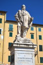 The statue of giuseppe garibaldi in lucca tuscany italy Royalty Free Stock Image