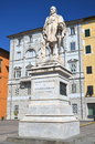 The statue of giuseppe garibaldi in lucca tuscany italy Stock Photos