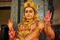 The statue of a god in Kali Mandir temple in India Stock Images